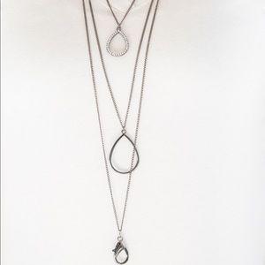 Make the World Sparkle black lanyard necklace